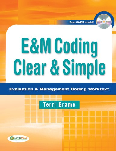 E&m Coding Clear & Simple: Evaluation and Management Coding Worktext  2013 edition cover