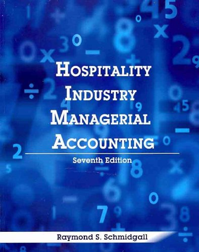Hospitality Industry Managerial Accounting  7th 2013 edition cover