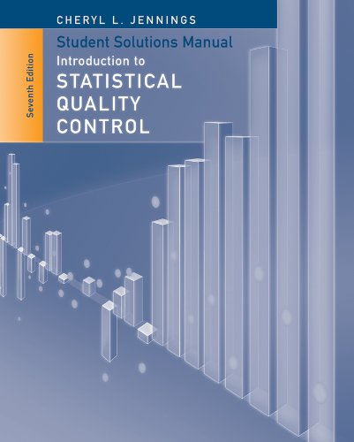 Student Solutions Manual to Accompany Introduction to Statistical Quality Control  7th 2013 edition cover