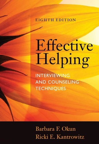 Effective Helping: Interviewing and Counseling Techniques  2014 edition cover