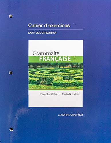 GRAMMAIRE FRANCAISE-WORKBOOK,UPDATED    N/A 9781305667594 Front Cover