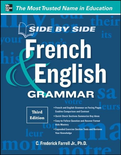 Side by Side French and English Grammar  3rd 2012 edition cover