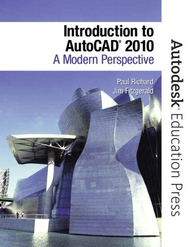 Introduction to AutoCAD 2010 A Modern Perspective  2010 9780135071595 Front Cover