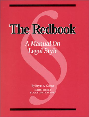 Redbook Manual of Legal Style   2002 edition cover