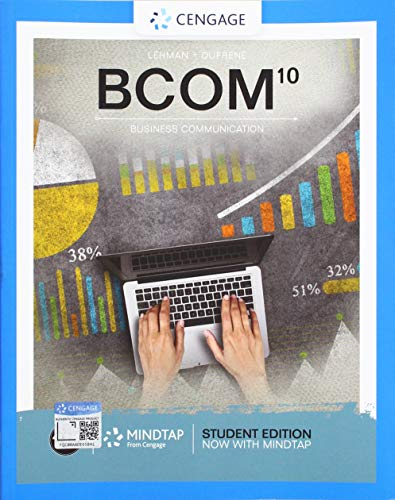 BCOM (Book Only)  10th 9780357026595 Front Cover