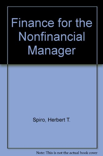 Finance for the Nonfinancial Manager  3rd 9780471610595 Front Cover