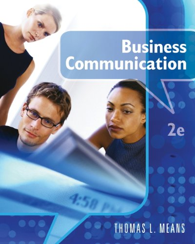 Business Communication  2nd 2010 (Guide (Pupil's)) 9780538449595 Front Cover