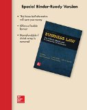 Loose-Leaf for Business Law  16th 2016 9781259408595 Front Cover