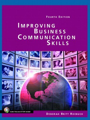 Improving Business Communication Skills  4th 2006 (Revised) 9780131184596 Front Cover