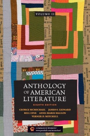 Anthology of American Literature Realism to the Present 8th 2004 (Revised) edition cover
