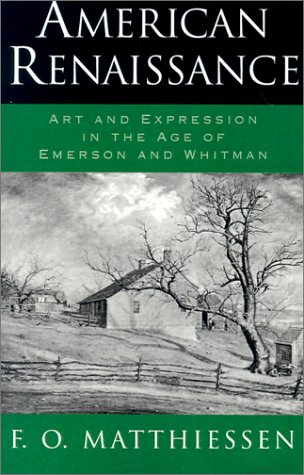 American Renaissance Art and Expression in the Age of Emerson and Whitman  1968 (Reprint) edition cover