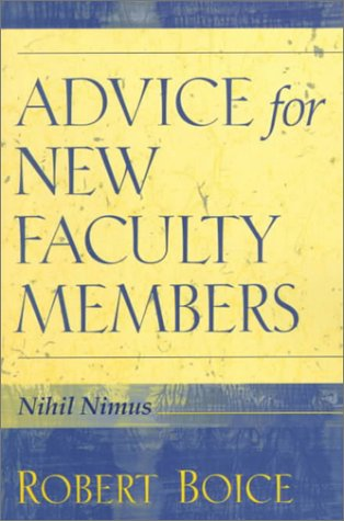 Advice for New Faculty Members   2000 9780205281596 Front Cover