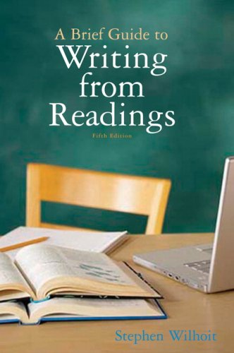 Brief Guide to Writing from Readings  5th 2010 edition cover