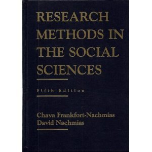 Research Methods in the Social Sciences 5th 1996 edition cover