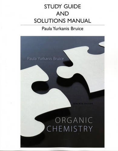 Study Guide and Student's Solutions Manual for Organic Chemistry  7th 2014 edition cover