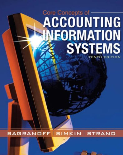 Core Concepts of Accounting Information Systems  10th 2008 (Revised) edition cover