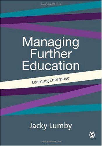 Managing Further Education Learning Enterprise  2001 9780761965596 Front Cover