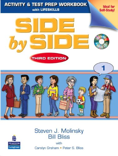 Side by Side 1 Activity and Test Prep Workbook (with 2 Audio CDs)  3rd 2009 edition cover