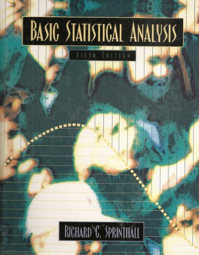 Basic Statistical Analysis 5th 1997 edition cover
