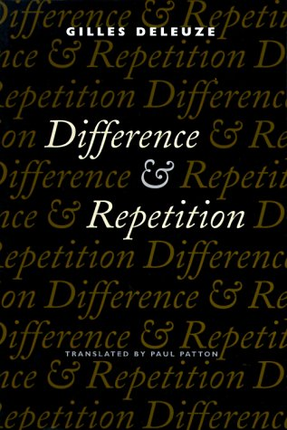 Difference and Repetition  N/A edition cover