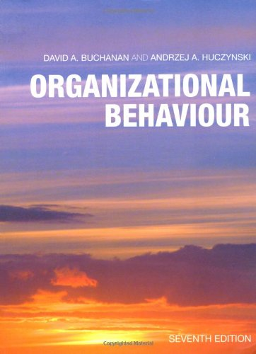Organizational Behaviour  7th 2010 (Revised) 9780273728597 Front Cover