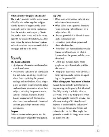Improving Comprehension with Think-Aloud Strategies Modeling What Good Readers Do  2001 (Teachers Edition, Instructors Manual, etc.) edition cover
