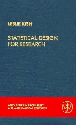 Statistical Design for Research  99th 1987 edition cover
