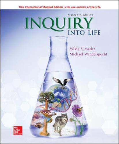 Inquiry into Life 16e  16th 2020 9781260547597 Front Cover