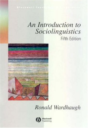 Introduction to Sociolinguistics  5th 2005 (Revised) edition cover
