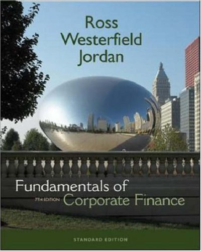 Fundamentals of Corporate Finance 7th 2006 edition cover