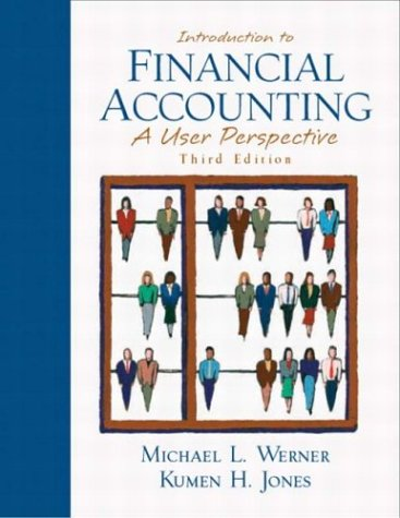 Introduction to Financial Accounting A User Perspective 3rd 2004 (Revised) edition cover