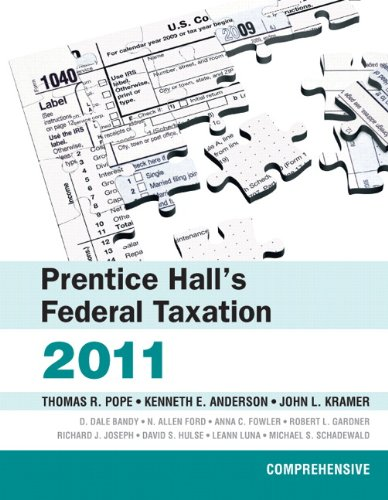 Prentice Hall's Federal Taxation 2011 Comprehensive 24th 2011 9780132138598 Front Cover