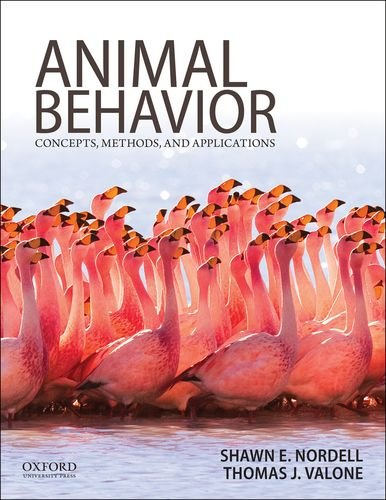 Animal Behavior Concepts, Methods, and Applications N/A 9780199737598 Front Cover
