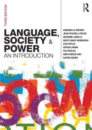 Language, Society and Power An Introduction 3rd 2011 (Revised) edition cover