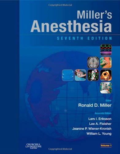 Miller's Anesthesia  7th 2009 edition cover