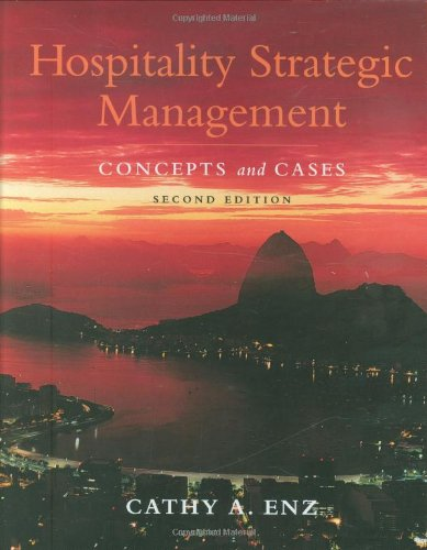 Hospitality Strategic Management Concepts and Cases 2nd 2010 edition cover