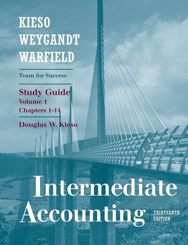 Intermediate Accounting - Chapters 1-14  13th 2010 (Student Manual, Study Guide, etc.) edition cover