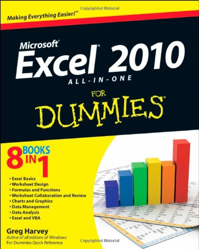 Micrososft Excel 2010 All-in-One for Dummies�   2010 edition cover