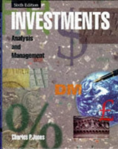 Investments Analysis and Management 6th 1998 edition cover