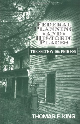 Federal Planning and Historic Places The Section 106 Process  2000 edition cover