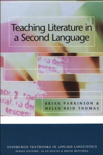 Teaching Literature in a Second Language   2000 9780748612598 Front Cover