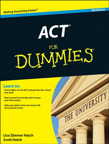 ACT for Dummies  5th 2012 edition cover