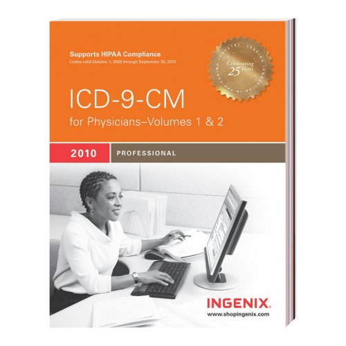 ICD-9-CM Professional for Physicians 2010 , Volumes 1 And 2   2010 edition cover
