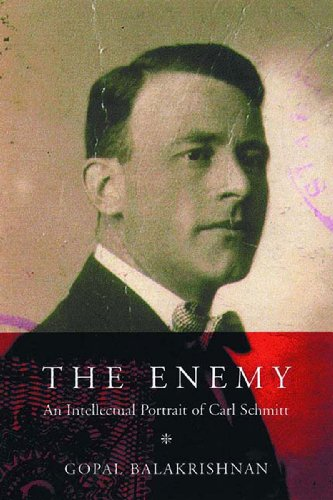 Enemy An Intellectual Portrait of Carl Schmitt  2000 9781859843598 Front Cover