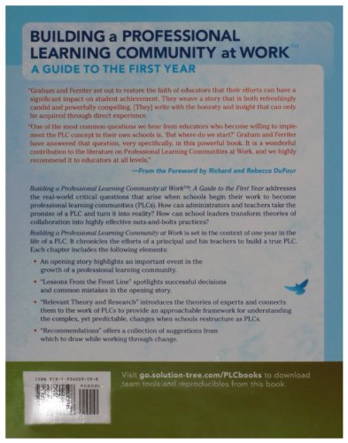 Building a Professional Learning Community at Work A Guide to the First Year 2nd 2009 edition cover