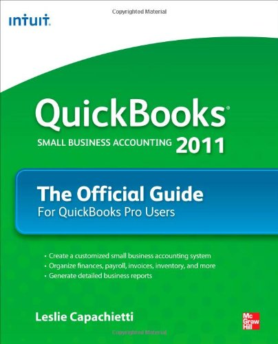 QuickBooks 2011 the Official Guide   2011 edition cover