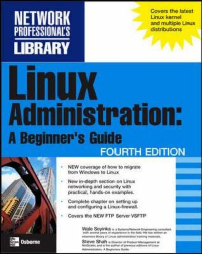 Linux Administration A Beginner's Guide 4th 2006 (Revised) 9780072262599 Front Cover