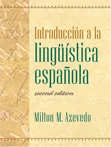 Introduccin a la ling��stica Espa�ola  2nd 2005 edition cover