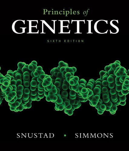 Principles of Genetics  6th 2012 edition cover