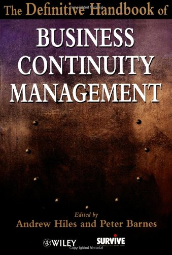 Definitive Handbook of Business Continuity Management   2002 9780471485599 Front Cover